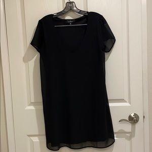 Lulus black casual short sleeve shift dress